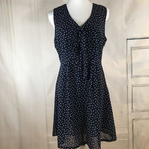 Tulle Sleeveless A-Line Dress Navy Size M